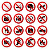 inget förbjudet teckenstopp Royaltyfri Fotografi