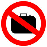 Inget handbagage stock illustrationer