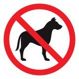 Inget hundtecken Arkivfoton