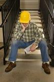 Inget hyr arbetaren som läggas av Royaltyfri Foto
