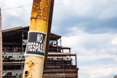 Inget inkräkta tecken på kolsäkerhetsbrytaren Fotografering för Bildbyråer