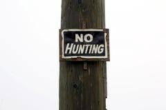 Inget jakttecken på vit bakgrund Royaltyfria Foton