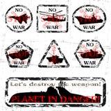 Inget kriga! stock illustrationer