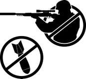 Inget kriga vektor illustrationer