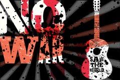inget kriga Räddning världen Typografisk affisch för tappninggrungefred retro vektor för illustration vektor illustrationer