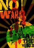 inget kriga Räddning världen Typografisk affisch för tappninggrungefred retro vektor för illustration stock illustrationer