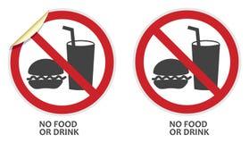 Inget mat- eller drinktecken Fotografering för Bildbyråer