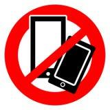 Inget mobiltelefonsymbol royaltyfria bilder