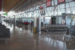 Inget på flygplatsen royaltyfri foto