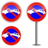 Inget parkera tecknet Royaltyfria Foton