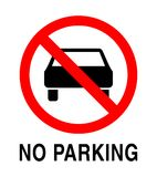 inget parkeringstecken Arkivfoton