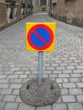 inget parkeringstecken Royaltyfri Fotografi