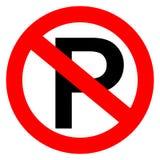 Inget parkeringstecken Fotografering för Bildbyråer