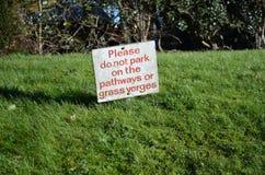 Inget parkeringstecken arkivfoto