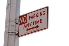 inget parkeringstecken Royaltyfri Foto