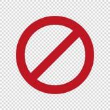 inget parkeringstecken Stoppet skriver in inte vektorsymbolen royaltyfri illustrationer