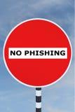 Inget Phishing begrepp Royaltyfri Foto