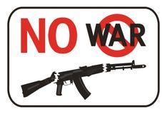 inget plakat kriger Arkivbild