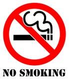 Inget - röka Arkivbilder