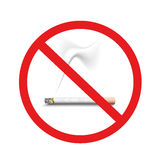 Inget - röka Royaltyfri Bild