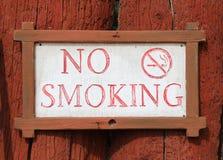 Inget - röka meddelandet Royaltyfri Bild