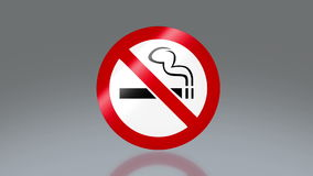 Inget - röka signagen royaltyfri illustrationer