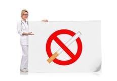 Inget - röka symbol Royaltyfri Fotografi