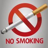 Inget - röka symbolen Royaltyfri Foto