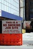 Inget - röka tecknet Arkivfoton