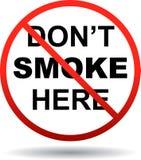 Inget - röka texttecknet royaltyfri illustrationer