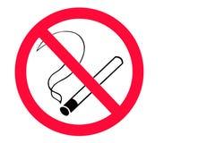 Inget - röka underteckna Arkivbild
