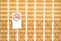 Inget - röka underteckna. Royaltyfri Bild