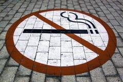 Inget - röka underteckna i Cape Town royaltyfri foto