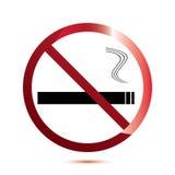 Inget - röka underteckna på vit. Arkivfoto