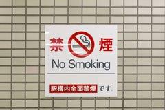 Inget - röka varningstecknet Arkivbilder
