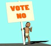 inget rösta Arkivbilder