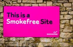 Inget - röka meddelandet Arkivbilder