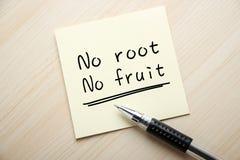 Inget rota ingen frukt royaltyfri bild