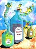 inget s-wine royaltyfri illustrationer