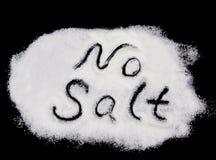 inget salt Arkivfoton