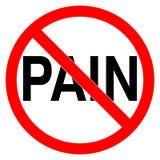 Inget smärta det förbjudna tecknet vektor illustrationer
