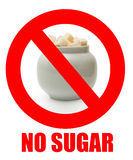 inget socker arkivfoto