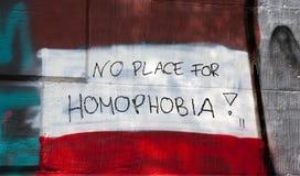 Inget ställe för homophobia Arkivbild