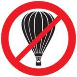 Inget symbol för ballonger för varm luft Royaltyfri Fotografi