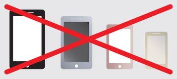 Inget tecken för bruksSmart telefon stock illustrationer