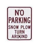 Inget tecken för parkeringssnöplog Royaltyfri Fotografi