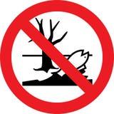 Inget tecken för skadliga kemikalieer stock illustrationer
