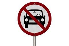 Inget tillåtet tecken för parkering Royaltyfri Foto