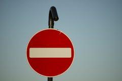 Inget tillträde för medeltrafik Fotografering för Bildbyråer