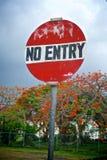 Inget tillträde undertecknar i karibiskt Arkivfoton